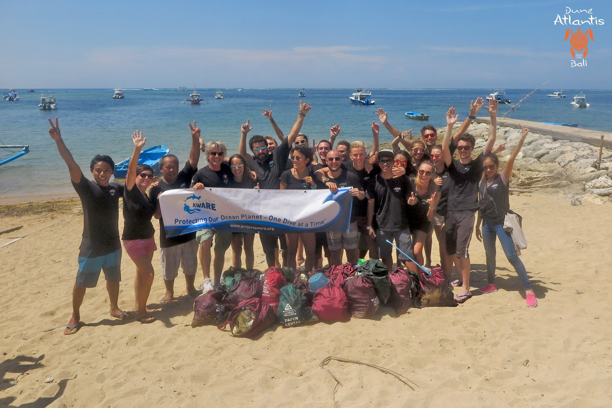 A Successful Clean Up in Sanur | Atlantis Bali Diving