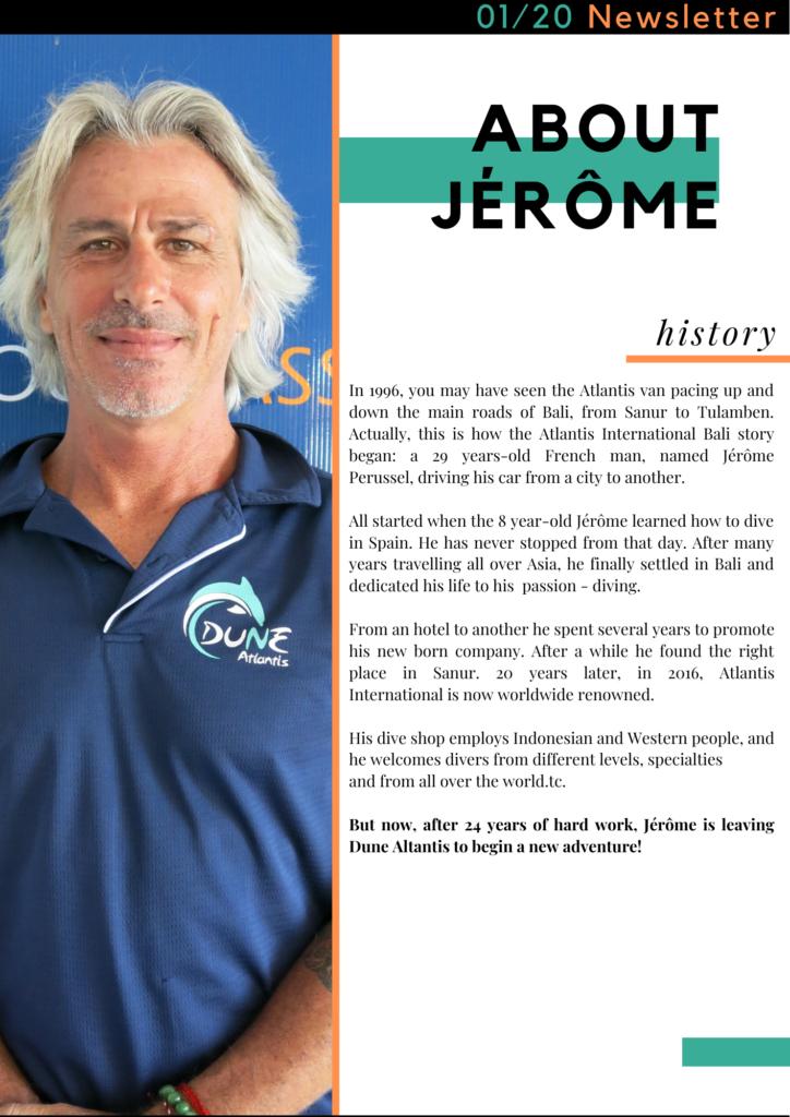 GOODBYE BOSS ! - About Jerome | Atlantis Bali Diving