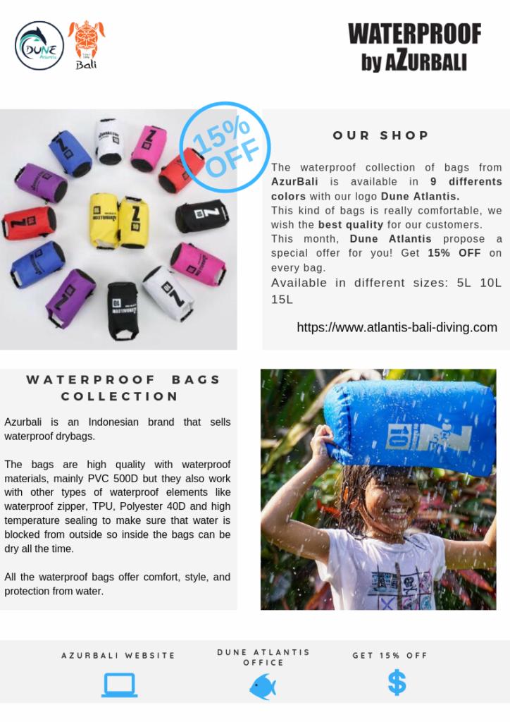 Newsletter August - 10% Off Waterproff bag by AzurBali | Atlantis Bali Diving