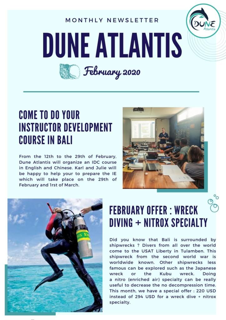 Newsletter February 2020 | Atlantis Bali Diving