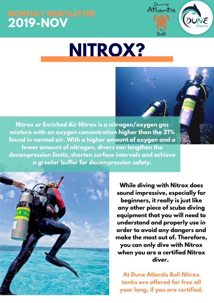 Newsletter November | Nitrox | Atlantis Bali Diving