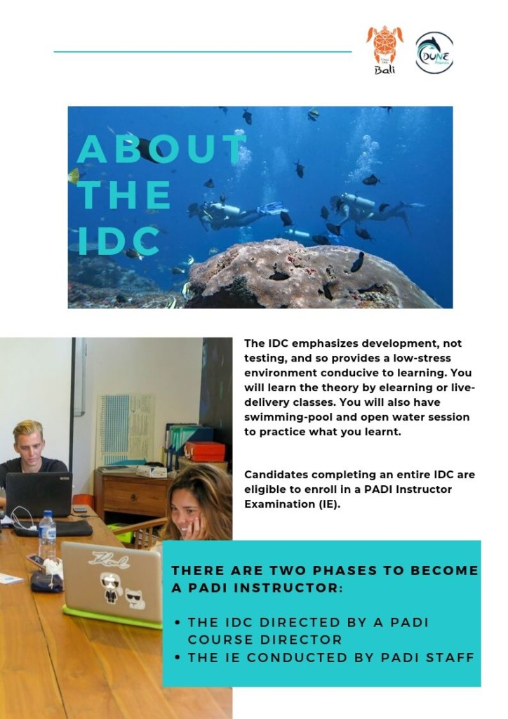 Newsletter September - About The IDC | Atlantis Bali Diving